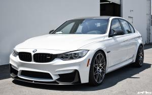BMW M3 Sedan Alpine White and Black by EAS 2017 года