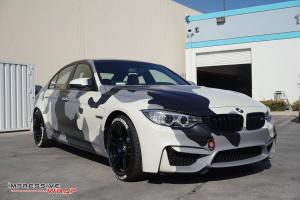 BMW M3 Sedan Full Camoflash by Impressive Wrap 2017 года