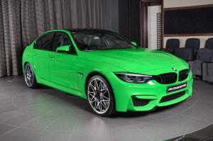 2017 BMW M3 Sedan Individual in Verde Mantis by Abu Dhabi Motors