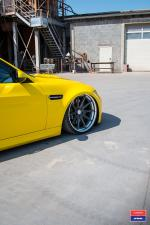 BMW M3 Sedan in Yellow X Work on Vossen Wheels (VWS-1) 2017 года