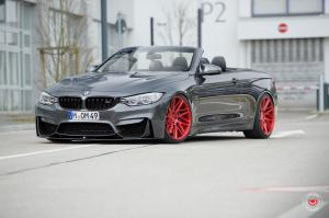 BMW M4 Convertible on Vossen Wheels (VPS-314T) 2017 года