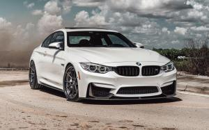 BMW M4 Coupe Alpine White on ADV.1 Wheels (ADV5.2 TRACK SPEC) 2017 года