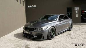 2017 BMW M4 Coupe Gloss Black by RACE! on Vorsteiner Wheels (V-FF 102)