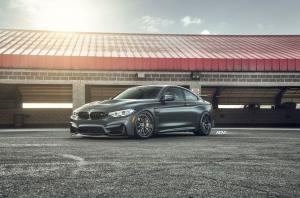 BMW M4 Coupe Mineral Grey on ADV.1 Wheels (ADV5.2 TRACK SPEC) 2017 года