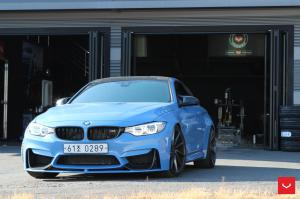 2017 BMW M4 Coupe Yas Marina Blue on Vossen Wheels (CVT)