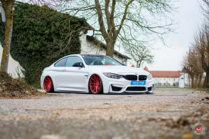 BMW M4 Coupe on Vossen Wheels (VPS-307T) 2017 года