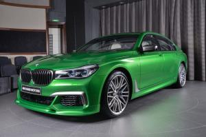 BMW M760Li Individual Rallye Green by 3D Design and Abu Dhabi Motors