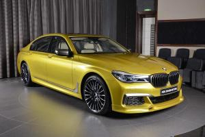 BMW M760Li Individual in Austin Yellow by 3D Design and Abu Dhabi Motors 2017 года