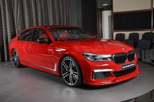 BMW M760Li xDrive Imola Red by 3D Design and Abu Dhabi Motors