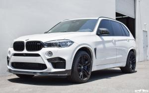 BMW X5 M Alpine White by iND and Akrapovic and EAS