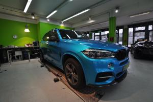BMW X5 M50d in Atlantis Blue by Print Tech 2017 года