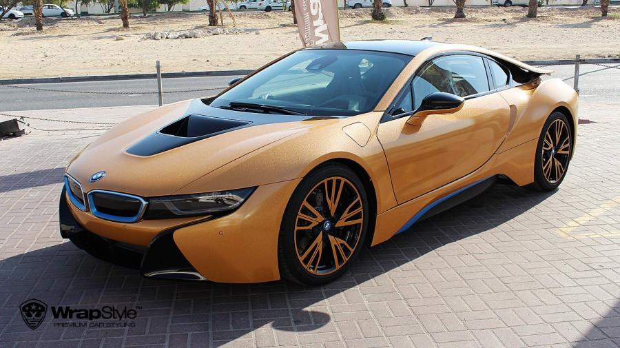BMW i8 Diamond Amber by WrapStyle