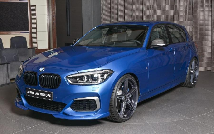 BMW M140i 5-Door in Estoril Blue by Abu Dhabi Motors