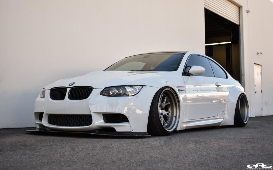 BMW M3 Coupe Alpine White by Liberty Walk and EAS