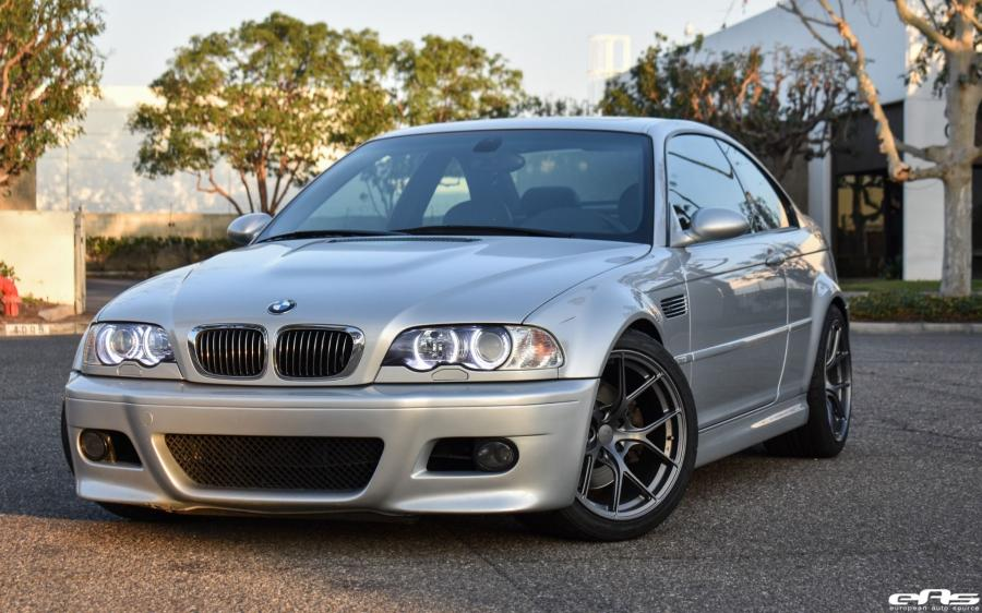 BMW M3 Coupe Titanium Silver by EAS on Titan Wheels (7 T-S5)