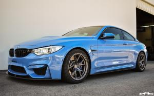 BMW M4 Coupe Yas Marina Blue by EAS on Titan Wheels (7 T-S5) 2018 года
