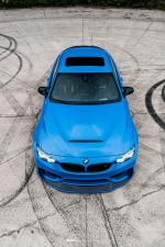 BMW M4 Coupe Yas Marina Blue on ADV.1 Wheels (ADV10 M.V2 CS) 2018 года