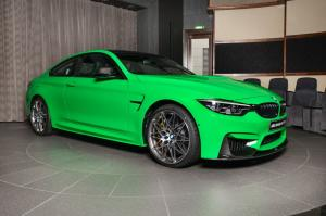 BMW M4 Coupe in Signal Green with M Performance Body Kit by Abu Dhabi Motors 2018 года