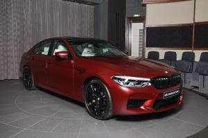 2018 BMW M5 First Edition in Frozen Red by Abu Dhabi Motors