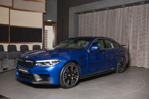 2018 BMW M5 in Marina Bay Blue Metallic by Abu Dhabi Motors
