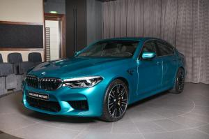 2018 BMW M5 with M xDrive in Snapper Rocks Blue by Abu Dhabi Motors