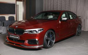 BMW M550i xDrive in Aventurine Red by AC Schnitzer and Abu Dhabi Motors 2018 года