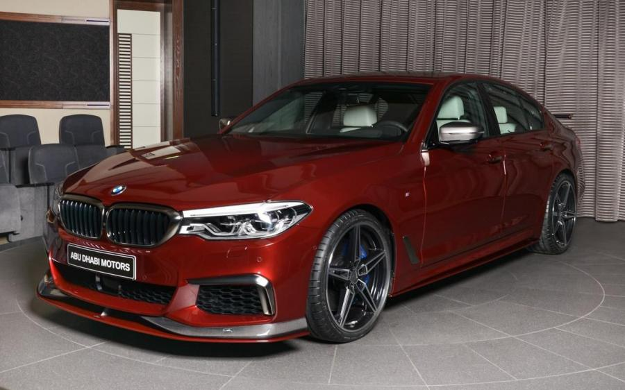 2018 BMW M550i xDrive in Aventurine Red by AC Schnitzer and Abu Dhabi Motors