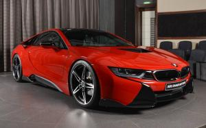 BMW i8 Coupe Protonic Red Edition by Abu Dhabi Motors 2018 года