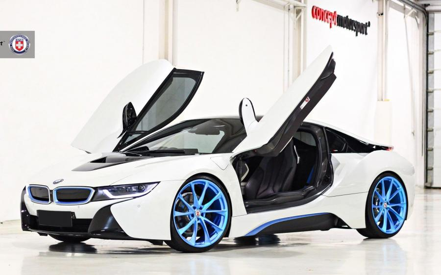 BMW i8 by Concept Motorsport on HRE Wheels (P204)