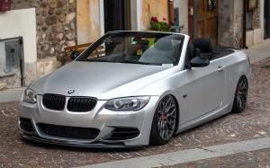 BMW 3-Series Convertible Matte Silver on Vossen Wheels (HF-2) 2019 года