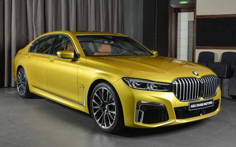 2019 BMW 730Li M Sport Package Austin Yellow by Abu Dhabi Motors