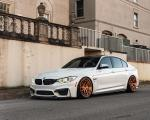 BMW M3 Sedan Alpine White on ADV.1 Wheels (ADV8R TRACK SPEC CS) 2019 года