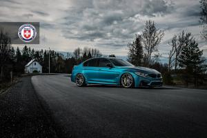 2019 BMW M3 Sedan Atlantis Blue on HRE Wheels (P104SC)
