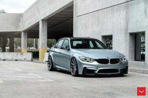 BMW M3 Sedan on Vossen Wheels (HF-3) 2019 года