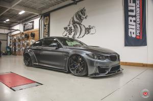 2019 BMW M4 Coupe by AirLift Performance on Vossen Wheels (HC-3 (3-Piece))