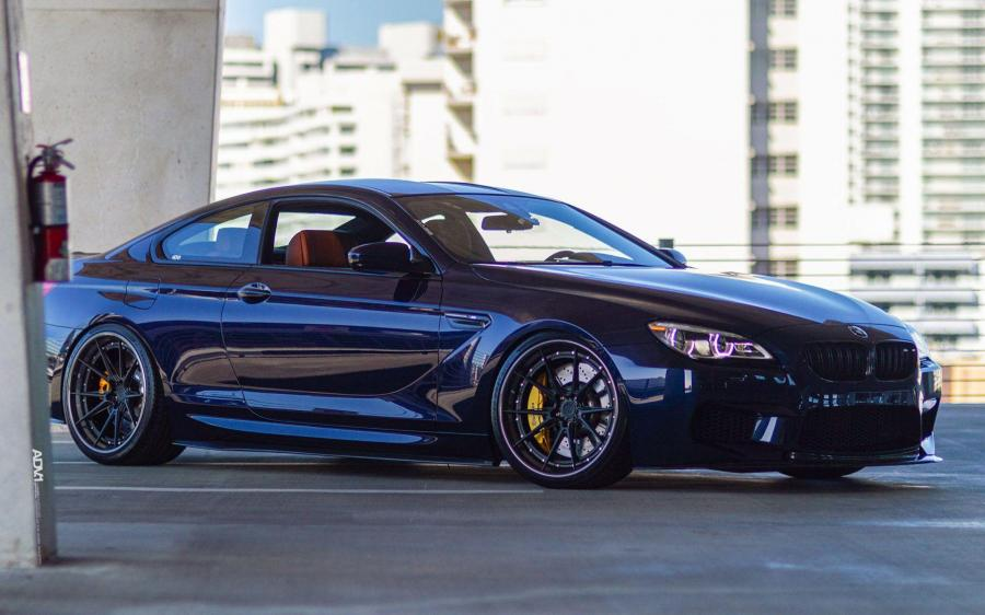 BMW M6 Coupe Tanzanite Blue on ADV.1 Wheels (ADV5.2 TRACK SPEC) '2019