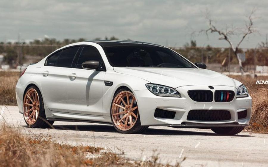 BMW M6 Gran Coupe Alpine White on ADV.1 Wheels (ADV10 TRACK SPEC SL) '2019
