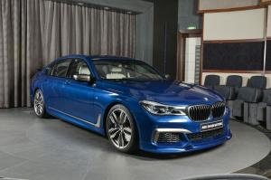 BMW M760Li Individual in Avus Blue by Abu Dhabi Motors 2019 года
