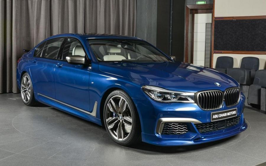2019 BMW M760Li Individual in Avus Blue by Abu Dhabi Motors