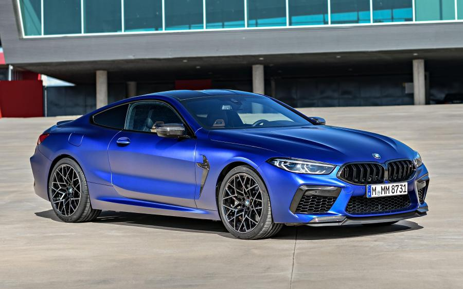 2019 BMW M8 Competition Coupe Frozen Marina Bay Blue (WW)