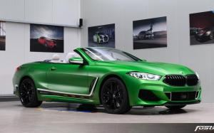 2019 BMW M850i xDrive Convertible Matte Krypton Green by Fostla Design (G14)