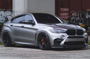 BMW X6 M Frozen Gray by EuroWerks on ADV.1 Wheels (ADV06RM TRACK SPEC CS) 2019 года