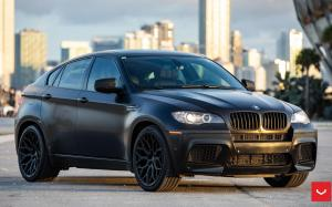BMW X6 M Matte Black on Vossen Wheels (HF-2)