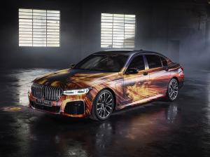 2020 BMW 745e xDrive M Sport Art Car by Gabriel Wickbold