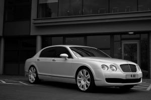 2009 Bentley Continental Flying Spur Pearl White Edition by Project Kahn