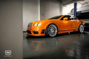 Bentley Continental GT Lowered Black Bison by Wald on DPE Wheels 2014 года