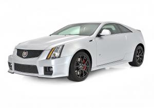 Cadillac CTS-V Coupe Silver Frost 2013 года