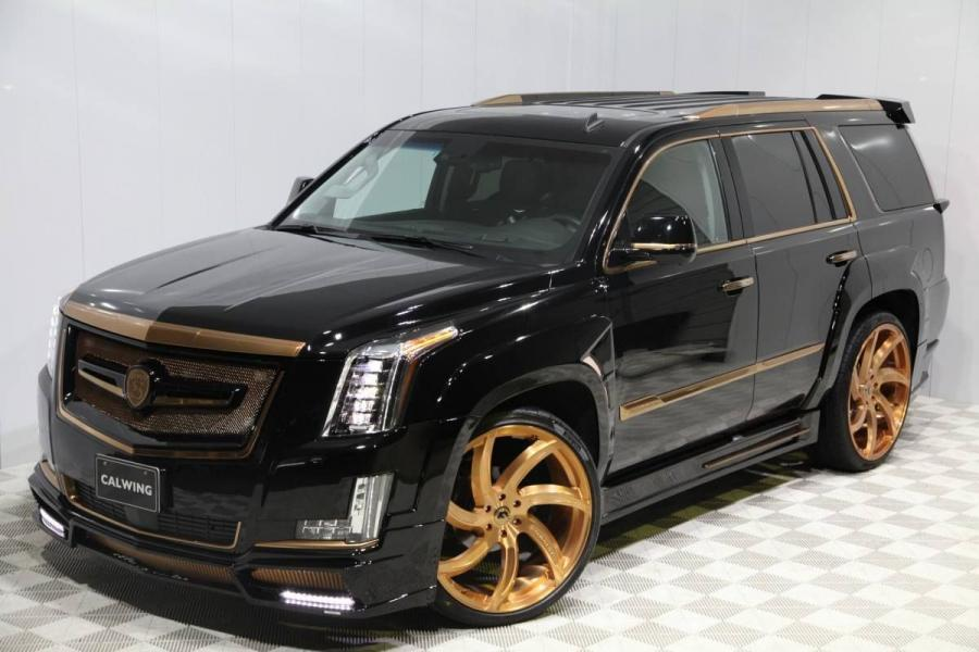 Cadillac Escalade Black & Gold by Calwing on Forgiato Wheels
