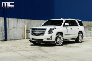 2018 Cadillac Escalade White by MC Customs on Avant Garde Wheels