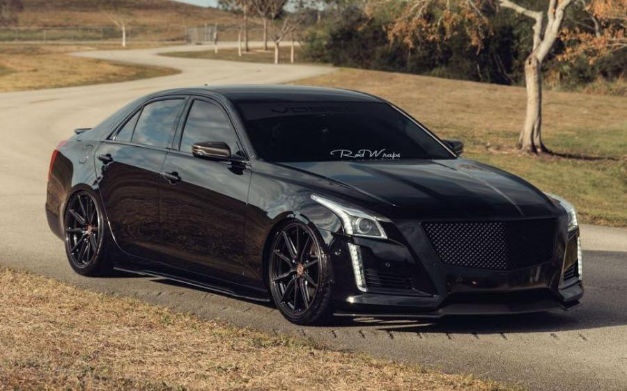 2019 Cadillac CTS by RodWraps on Vossen Wheels (HF-3)